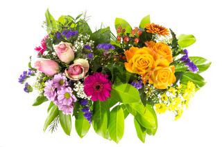 Zwei bunte Blumenstraeusse 4