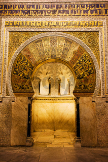 Mihrab in the Great Mosque of Cordoba