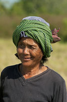 female rural worker, Battambang, Cambodia