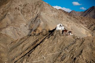 Buddhist monastery Namgyal Tsemo. Leh. India
