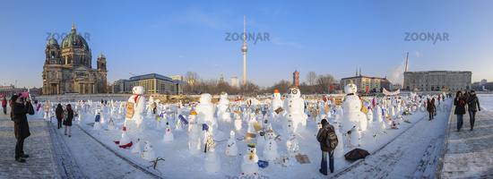 Snowman Demo 2010 on the Schlossplatz, Berlin