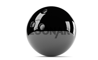 black  bowling ball