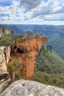 View of Hanging Rock Blue Mountains NSW Australia