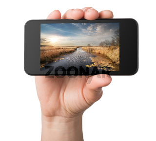 Landscape in a phone