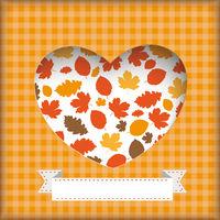 Autumn Flyer Foliage Heart Hole