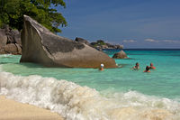 dream beach on the Similan Islands,Thailand