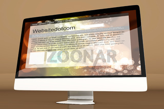 All in one Computer showing a generic website