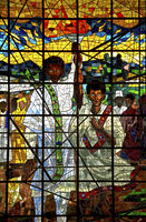 glass triptych Total Liberation of Africa