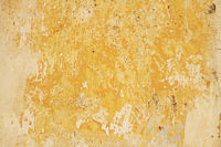 Old Wall With Weathered Yellow Paint Background Te