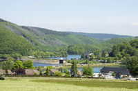 Barrier lakes in Rurberg, Eifel, Germany