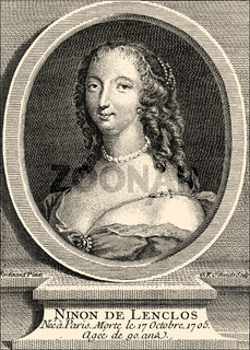 Ninon de l'Enclos, 1620 - 1705, a French courtesan