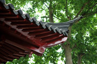 The architecture structure of a Chinese temple