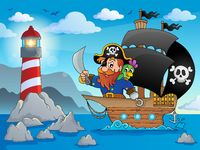 Pirate ship theme image 2 - picture illustration.