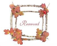 Holzrahmen mit Ringelblumen - Wooden frame with calendula
