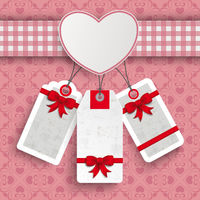 Heart Cloth Valentinesday Price Stickers Ornaments PiAd