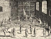 Academic fencing, University of Leiden, 17th century