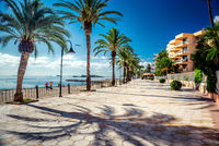 View of Ibiza seafront. Spain