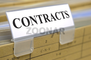 folder in office made for contracts