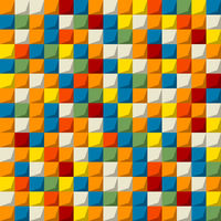Colored mosaic seamless pattern