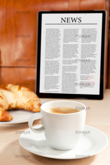 Caffeine and news for breakfast