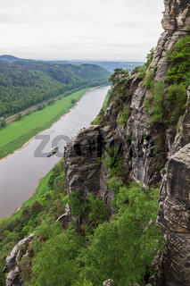 Elbe river seen from the Bastei