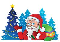 Santa Claus theme image 6 - picture illustration.