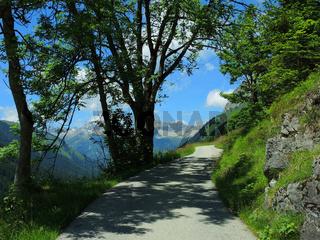Wegstimmung im Lechtal, Tirol, Oesterreich
