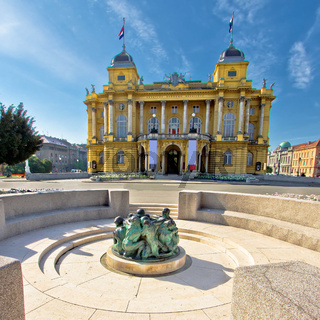 Croatian nationa theater in Zagreb