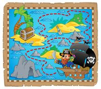 Pirate map theme image 3 - picture illustration.