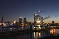 Habor Hamburg with the Elbphilharmonics, Germany