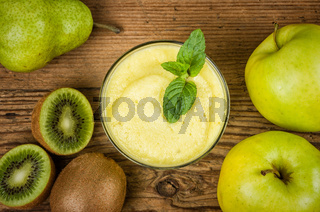Fruit smoothie with fresh ingredients
