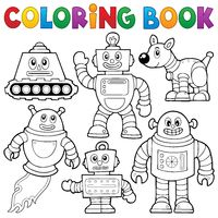 Coloring book robot collection 1 - picture illustration.