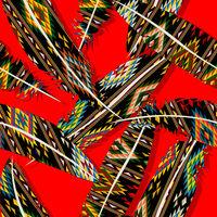 Ikat feather pattern 8