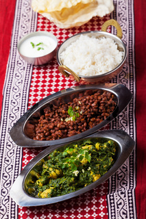 indisches Murgh Palak Curry Gericht
