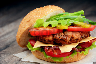 Homemade tasty sandwich