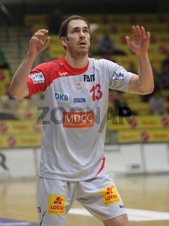 slowenischer Handballspieler Jure Natek -Saison 2014/15 SC Magdeburg,Nationalspieler Slowenien