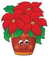 Christmas flower theme image 1 - picture illustration.