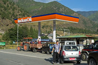 Petrol station of the Indian Oil Corporation, Paro
