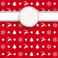 White Emblem Christmas Cover Patterns