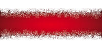 Long Red Christmas Card Double Snow Banner