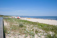 Beach of Swinoujscie,baltic Sea,Poland