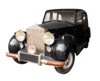 Antique, Black Car, Isolated Against a White Background