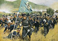 Prince Friedrich Wilhelm Heinrich August of Prussia at the Battle of Kulm, on 29–30 August 1813, War of the Sixth Coalition