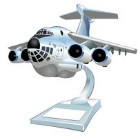 Cartoon Cargo Airplane