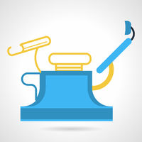 Flat color vector icon for gynecology equipment