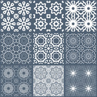 set of seamless tileable background patterns