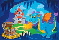Fairy tale image with dragon 8 - picture illustration.