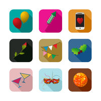 Party icons set