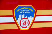 Wappen des New York City Fire Department oder Fire Department of the City of New York, FDNY, Berufsfeuerwehr, Manhattan, New York City, USA, Nordamerika