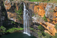 Berlin falls at Panorama route in South Africa